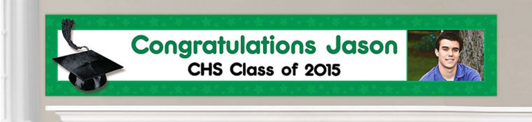 Custom Green Graduation Banners