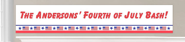 Custom Patriotic Banners
