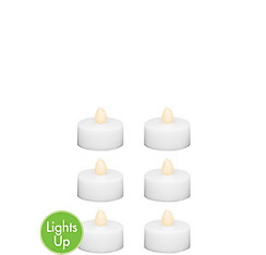 White Tealight Flameless LED Candles 6ct