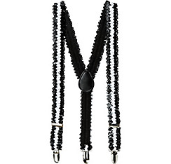 Black & White Sequin Suspenders