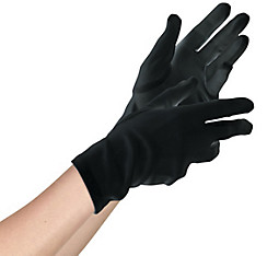 Teen Black Gloves Deluxe