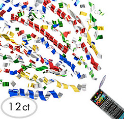 Multicolor Confetti Party Poppers 12ct