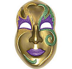3D Gold Mardi Gras Mask Decoration