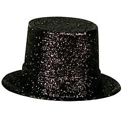 Glitter Black Top Hat
