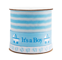 Blue Baby Shower Three Ribbon Spool