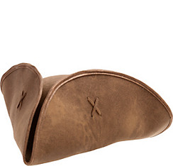 Brown Suede Tricorn Pirate Hat