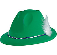 Green German Tyrolean Hat