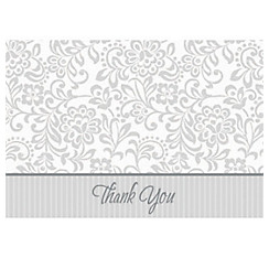 Silver Wedding Traditions Thank You Notes 25ct