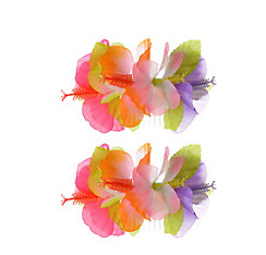 Tropical Hibiscus Hair Combs 2ct