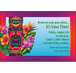 Tiki Island Custom Invitation