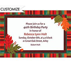 Falling Foliage Custom Invitation