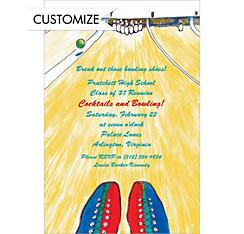 Bowling Alley Custom Invitation