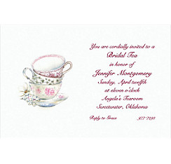 China Teacups Custom Bridal Shower Invitation