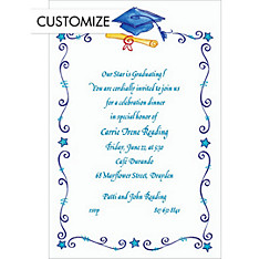 Scrollwork Graduation Custom Graduation Invitation