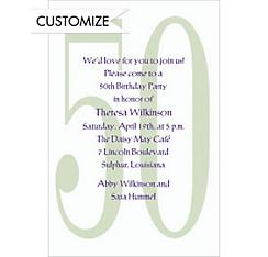 Big 50 Custom Invitation