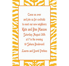 Sunshine Zebra Stripe Custom Invitation