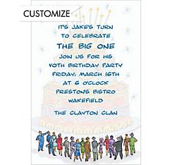 It's a Birthday Cake! Custom Invitation