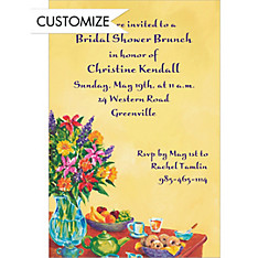 Colorful Brunch Setting Custom Invitation