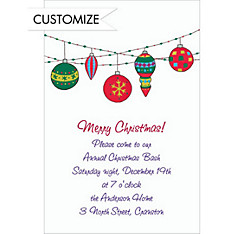 Dangling Mod Ornaments Custom Christmas Invitation