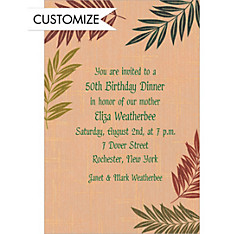 Fancy Ferns Custom Invitation