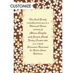 Simple Taupe Floral Custom Invitation