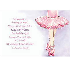 Little Ballerina Custom Invitation