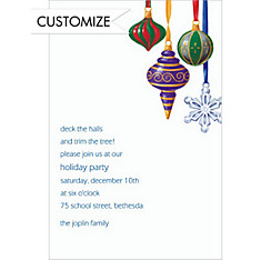 Shapely Ornaments Custom Christmas Invitation