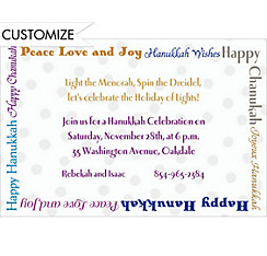 Fun Hanukkah Wishes Custom Invitation