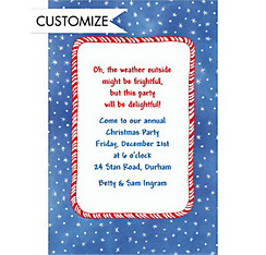Candy Stripe & Stars Custom Christmas Invitation
