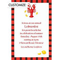 Lobster & Lemon Custom Invitation