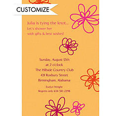 Playful Blooms Custom Invitation