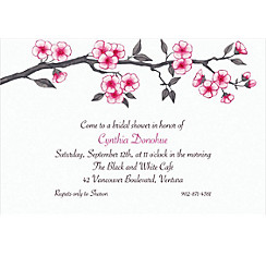 Blooming Branches Custom Invitation