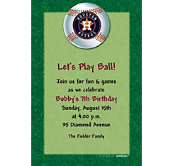 Houston Astros Custom Invitation