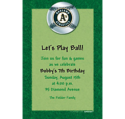 Oakland Athletics Custom Invitation