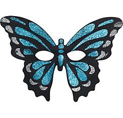 Iridescent Blue Butterfly Mask