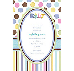 Tiny Bundle Custom Birth Announcements