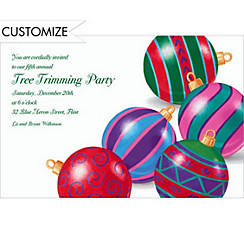 Posing Ornaments Custom Christmas Invitation