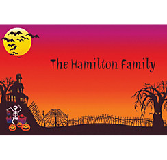 Haunted Hill Halloween Custom Thank You Note