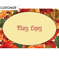 Custom Elegant Leaves Thank You Notes