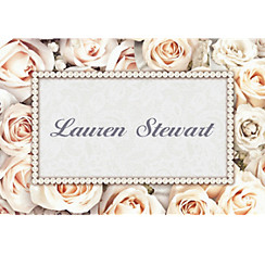Lovely in White Custom Bridal Shower Thank You Note