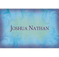 Joyous Cross Blue Custom Thank You Note