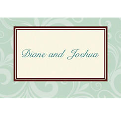 Floating Border Mint Custom Thank You Note