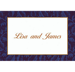 Blue Damask Custom Thank You Note