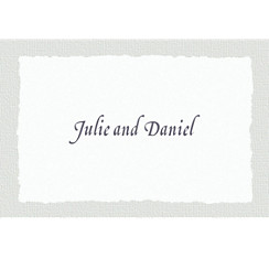 Gray Deckle Edge Custom Thank You Note