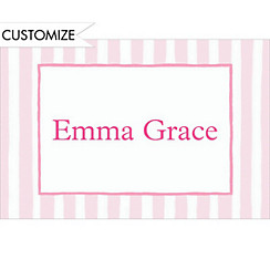 Pink Soft Stripe Custom Thank You Note