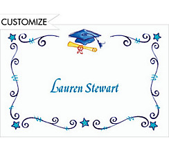 Scrollwork Graduation Custom Thank You Notes