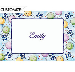 Party Balloons 16 Custom Thank You Note