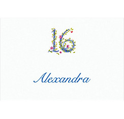 16 with Floral Vine Custom Thank You Note