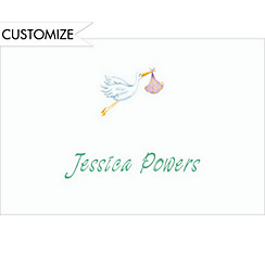 Stork Custom Baby Shower Thank You Note