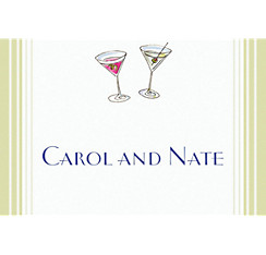 Custom His and Hers Cocktails Wedding Thank You Notes